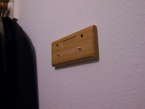 Where tie rack SHOULD be...